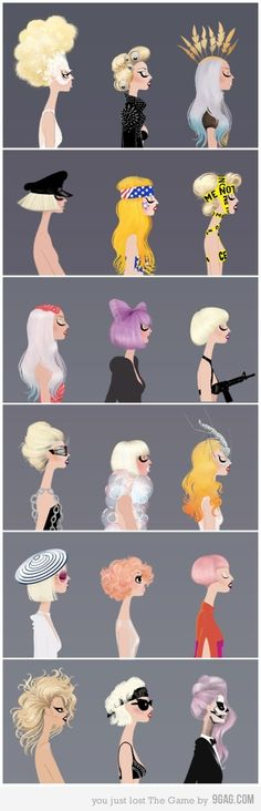 the many looks of lady gaga