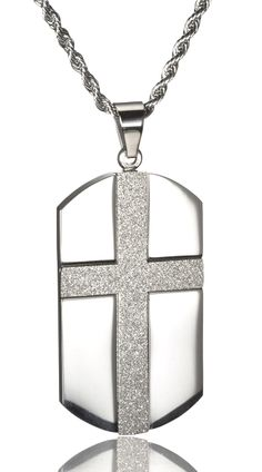Stainless Steel Dog Tag Cross