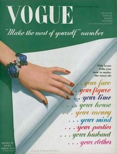 Seaman Schepps jewels on the cover of Vogue, 1941.