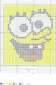 Sponge Bob TBC Plastic Canvas Coasters, Plastic Canvas Stitches, Plastic Canvas Tissue Boxes, Plastic Canvas Crafts, Plastic Canvas Patterns, Beaded Cross Stitch, Cross Stitch Patterns, Crochet Projects, Sewing Projects