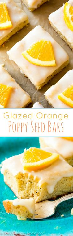 Glazed Orange Poppy Seed Bars will have everyone begging for the recipe! The sweet orange glaze is unbelievable!