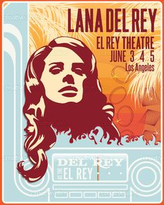Created by abosiger for the contest to design a poster for Lana Del Rey #music #posters