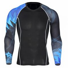 4b73fcb77bdb0c Unleash the beast with this beautiful COMPRESSION TOP - BLUE 3d T Shirts