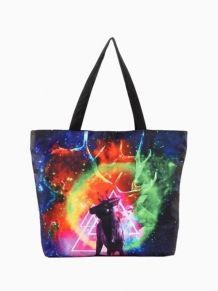 c04f83923e Tote Bag In Reindeer Print Beach Tote Bags, Galaxy Print, Fashion Handbags,  Tote
