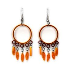 Quilled Sun-Kissed Dream Catcher Earrings