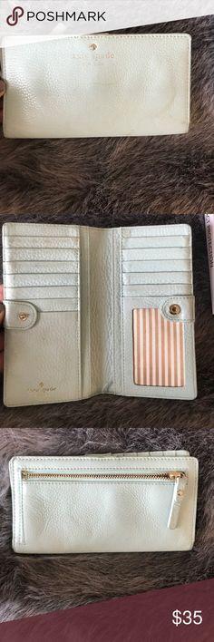 Kate spade wallet Kate spade wallet in foam green. Good used condition kate spade Bags Wallets