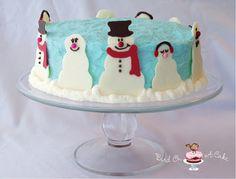 Snowman Cake tutorial (Bird On A Cake) Christmas Cake Decorations, Christmas Desserts, Christmas Treats, Christmas Cakes, Christmas Baking, Christmas Recipes, Winter Christmas, Snowman Cake, Snowmen