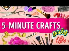 top 12 ideas of 5 minute crafts girly | mix diy - YouTube