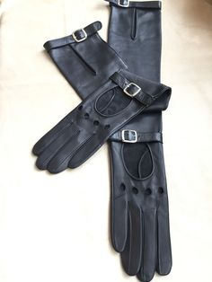 897995668 Women s fashion long leather gloves  super soft Italian leather  unlined  black leather gloves  women gift  glamour style  mother s day