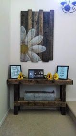 Pallet Projects - Pallet Table And Wall Art