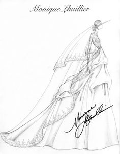 Monique Lhuillier Bridal Sketch| Be inspirational  ❥|Mz. Manerz: Being well dressed is a beautiful form of confidence, happiness & politeness