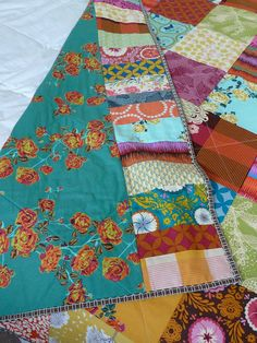 Great idea for making a backing fabric larger. #wedding #quilt