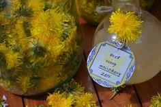 Ocet winny z mniszka lekarskiego. Natural Medicine, Christmas Bulbs, Dairy, Herbs, Cheese, Holiday Decor, Food, Vinegar, Health