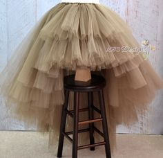 ULTRA FULL High/Low Custom Made Tutu Skirt Layered by 1583Designs