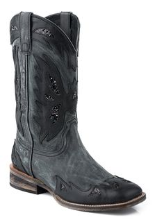 Roper Women's Distressed Glitter Underlay Boot ** Find out more details by clicking the image : Boots Shoes