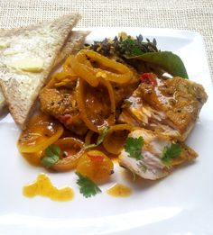 Cape Pickled Fish with Lime, Thyme & White Pepper, and a Pickled-Fish Paté, from the left-overs - Justin's Recipes Fish Recipes, Seafood Recipes, Chicken Recipes, Cooking Recipes, Oven Recipes, Curry Recipes, South African Dishes, South African Recipes, Ethnic Recipes