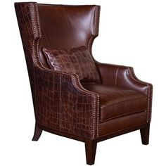 Ventura Madison Leather Mayfair Brown Croc Armchair