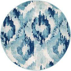 Mirage 353 Blue 150cm Round Rug