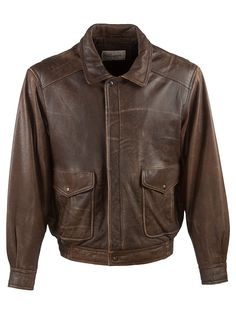 Vintage Milanoza Vintage Aviator Jacket - L, Regular Fit, size Size L . Colour Dark Brown and made from 100% Lambs Leather with with Brown Lining and and YKK Front Zip Fastening fastening.
