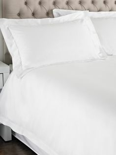 M&Co. Homeware Luxury cotton sateen duvet set Back To University, Cotton Duvet, Duvet Sets, Bed Pillows, Pillow Cases, Flat, Luxury, Home, Decor