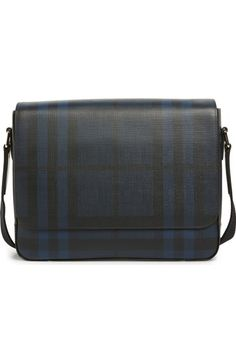 Burberry Smoke Check Messenger Bag available at  Nordstrom Burberry Bags ca845b8bebe31