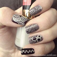 sharpie nail art …