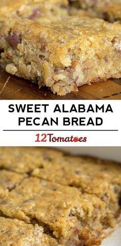 Sweet Alabama Pecan Bread 12 Tomatoes 082717 is part of Desserts - Pecan Recipes, Cake Recipes, Dessert Recipes, Cooking Recipes, Pecan Bread Recipe, Pecan Desserts, Pecan Roll Candy Recipe, Povitica Bread Recipe, Health Desserts