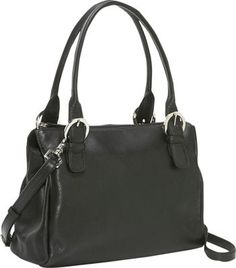 Derek Alexander Black A classic two-handled bag that can also be worn cross body. Material: Top Grain Cowhide with a Soft Pebble Finish Satchels, Handbags, Derek Alexander, Classic Handbags, Shoulder Bags, Leather, Leather Handbags, Double Handles