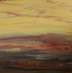 """Kimberly Conrad Contemporary Abstract Art """"Pouring Color Into Your Life""""sunset,landscape painting,"""