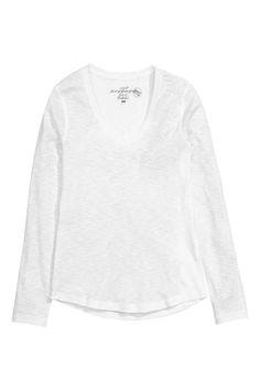 Top in slub jersey | H&M