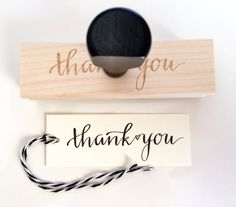 Thank You Stamp / Calligraphy Stamp / by SugarAndChicShop on Etsy, $23.00