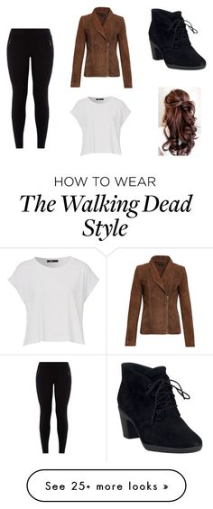 """the walking dead"" by gabbie83 on Polyvore featuring Clarks"