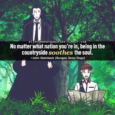 """""""No matter what nation you're in, being in the countryside soothes the soul"""""""