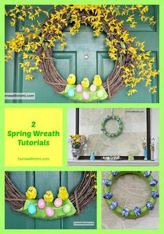 2 Spring Wreath Tutorials