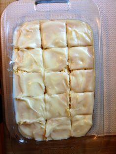 Pineapple Poke Cake with Marshmallow Cream Cheese Frosting on MyRecipeMagic.com