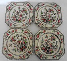 Johnson Bros INDIAN TREE Square Salad Dessert Plates ENGLAND