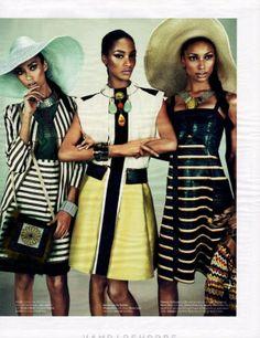 <3 Black models: Jourdan Dunn, Jasmine Tookes + Anais Mali for W, March 2012