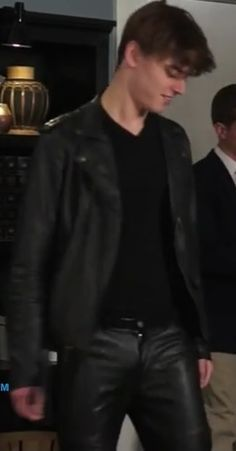 Black Leather Bomber Jacket, Mens Leather Pants, Tight Leather Pants, Teenage Guys, Sexy Teens, Leather Fashion, Gay, Menswear, Smooth