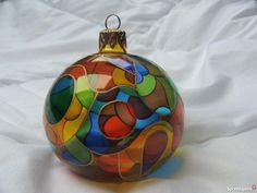 malowane bombki choinkowe Ceramika i szkło Toruń