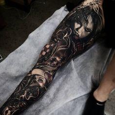 3D leg tattoo - 50 Incredible Leg Tattoos  <3 <3