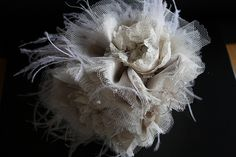 Lace and Tulle Fabric Bouquet IMG_3347 by Florio Designs, via Flickr