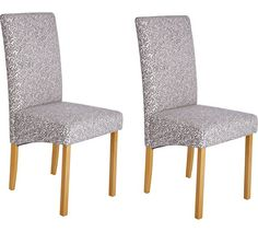 Buy Heart of House Pair of Floral Fabric Skirted Dining Chairs at Argos.co.uk - Your Online Shop for Dining chairs, Dining room furniture, Home and garden.