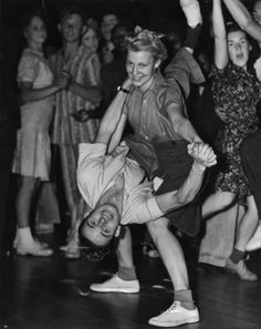 Couple dancing at the Trocadero in L.A. (1940s)