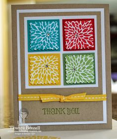 by Tawnya Bonnell, From My Pad to Yours: Betsy's Blossoms Postage Squares