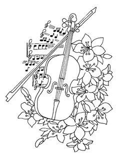 coloring page Musical Instruments Kids-n-Fun Inspiration for coloring. use Aurora Pencils. http://aurora-artsupplies.com