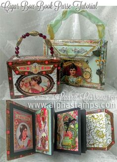 Alpha Stamps News » Cigar Box Book Purse by Laura Carson, Flash Sale & Giveaway!