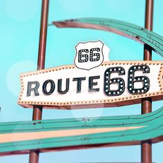 Route 66 Neon Vintage Sign 1950s Decor Fine by KaleidoscopePhoto, $15.00