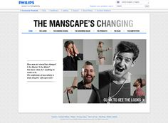 The Manscape's Changing - Landing page