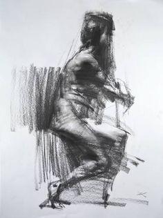 "Saatchi Art Artist Zin Lim; Drawing, ""Figure#D07"" #art"