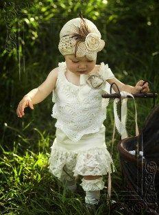 Vintage girl dressed in DIY clothing